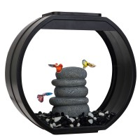 Аквариум AA-Aquariums Deco O Mini UPG, 10л, черный, 335*136*310мм