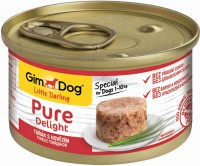 Консервы для собак GimDog Pure Delight из тунца с говядиной 85 г