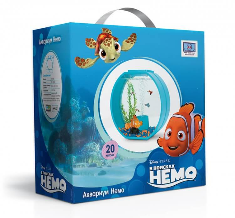 Аквариум Triol - Disney Nemo, 20л, бирюзовый, 395*187*375мм
