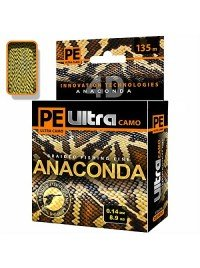 "Леска-шнур Aqua ""PE Ultra Anaconda camo"" Desert, Jungle 135 m 0.18 mm"